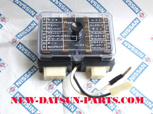 electrical datsun 510 parts aka bluebird datsun 510 bluebird fuse box