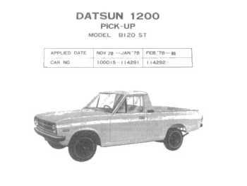 Datsun 1200 Parts, B110, 120Y Sunny, GL, GX, GX5, PB110,