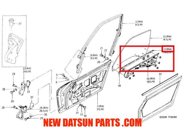 Datsun 240Z 260Z 280Z 510 Roadster OEM Window Crank Handles Pair NOS
